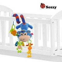 Sozzy Yeni Tasarım Bebek Çıngırak Maymun Peluş Bebek Beşik Gezginci Asılı Bebek Diş Kaşıyıcı Çekme Çan Pasifize AppeaseToy