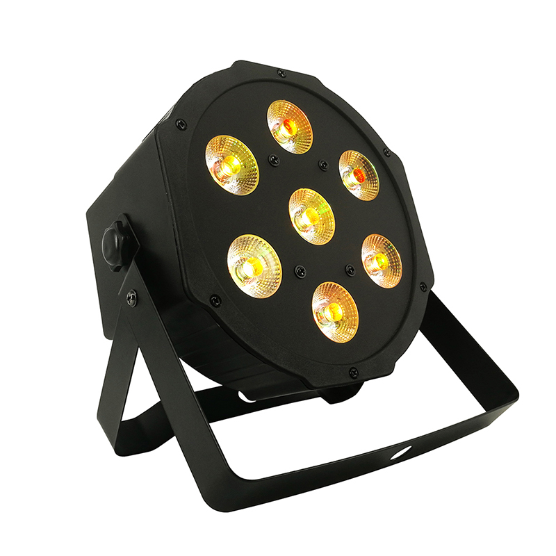 1PCS LED 7x18W RGBWA+UV Par Light With DMX512 6in1 Stage Light Wash Effect DJ Disco 7x12W 54x3W 12x3W Mini Led Spotlighting 10W