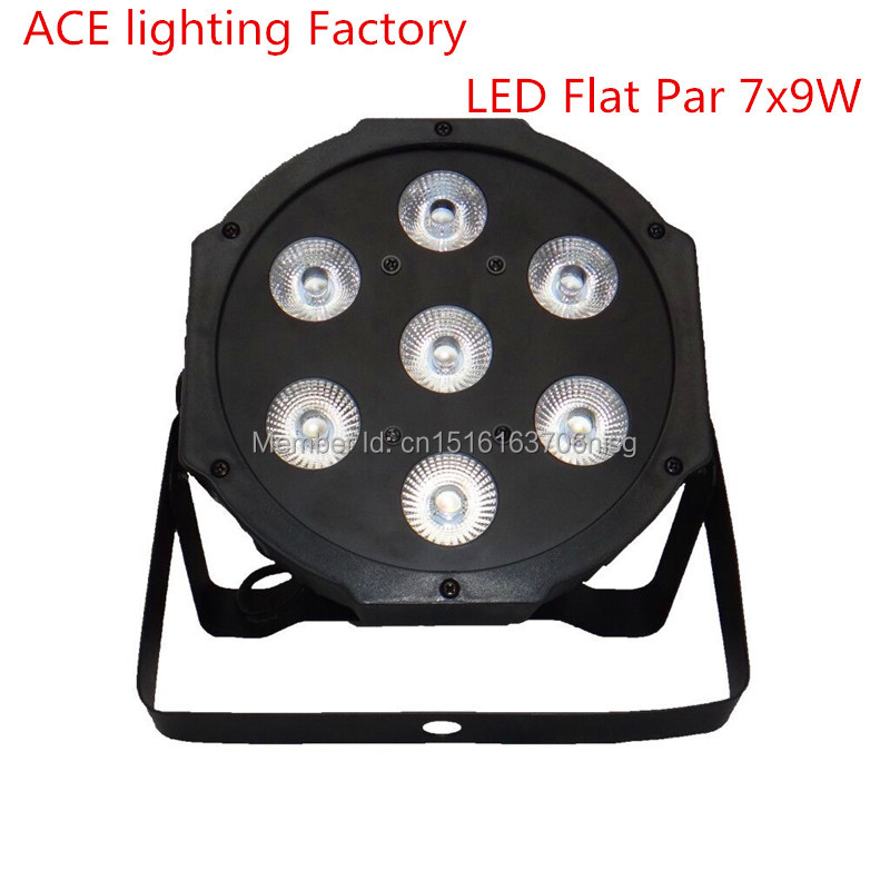 10 pieces Promotional Packaging LED SlimPar 7x9W RGB 3IN1 LED DJ Wash Light Stage Uplighting Led Lamp chandelier