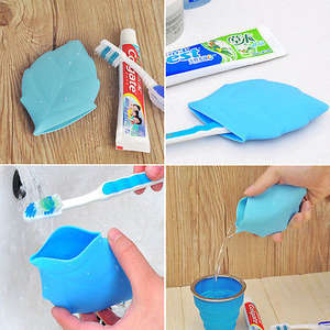 Portable Soft Silicone Leaf Shape Camping Hiking Home Water Drink Pocket Cup