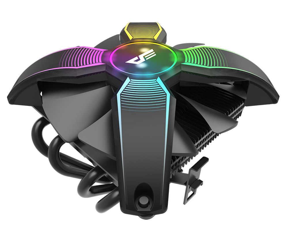 Aigo Talon Keine Rahmen X form RGB LED CPU Kühler PC Kühlkörper mit 4 Wärme Rohre Kühler Lüfter Computer CPU Luftkühler