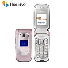 6085 Восстановленное Оригинальное Nokia 6085 флип мобильный телефон 2 г GSM открыл флип телефона + многоязыковым Бесплатная доставка