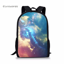 ELVISWORDS Galaxy Printed School Backpacks for Student Children Girls Laptop Rucksacks Travel Bags Women Mochila