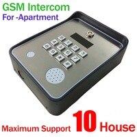 GSM APARTMENT клавиатуры Handfree дверь в квартиру или ворота контроллер с Беспроводной gsm аудио домофон