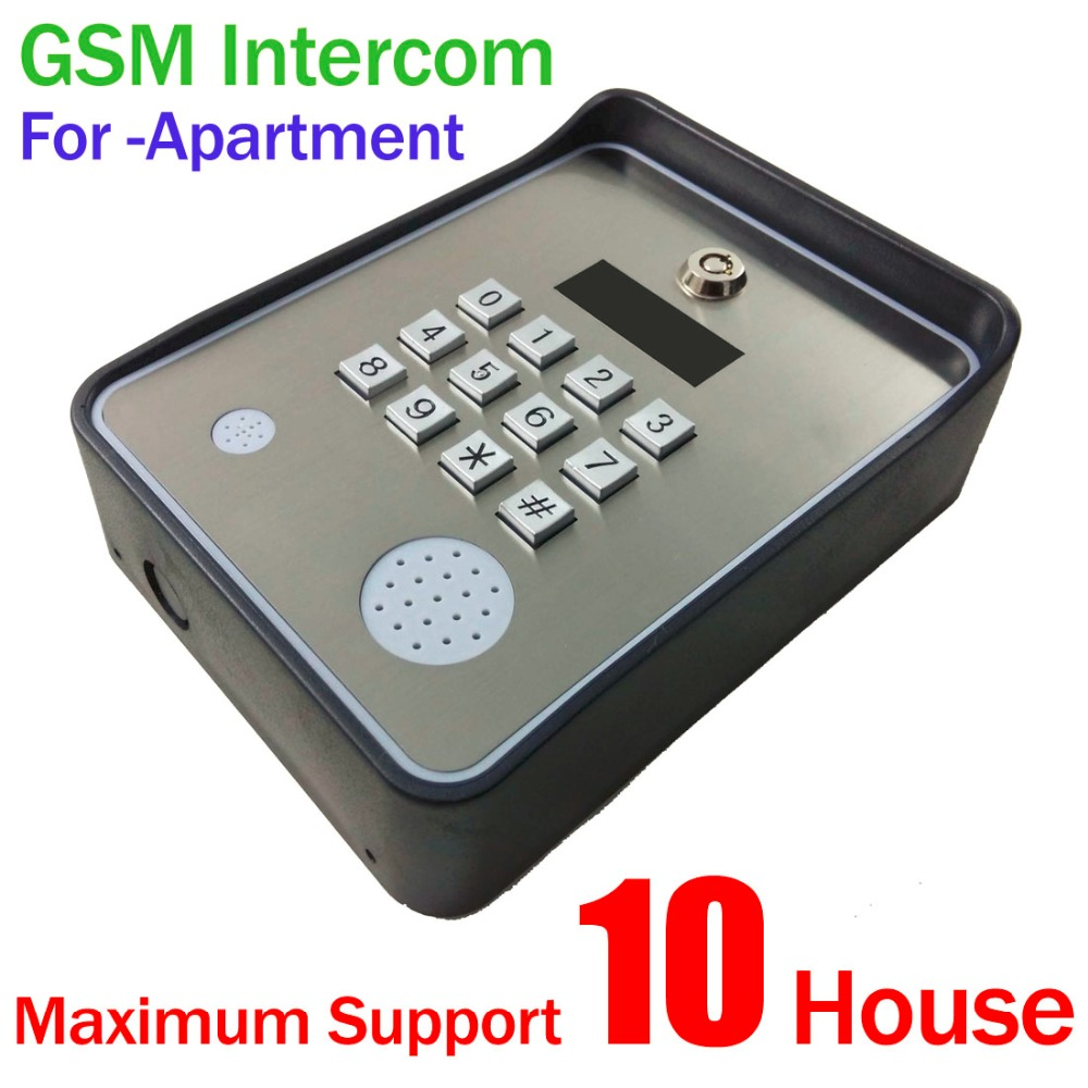GSM-APARTMENT KEYPAD Handfree apartment door or gate access controller with Wireless gsm audio intercom system my apartment