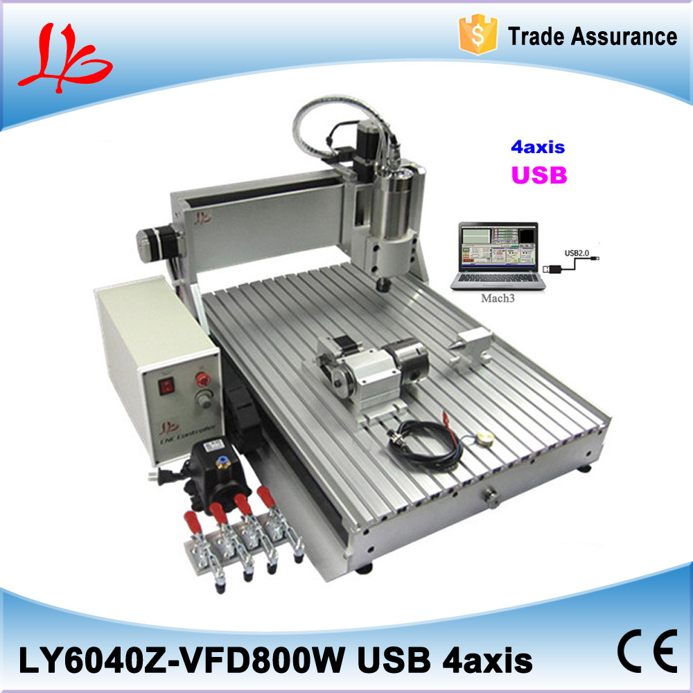 USB port 3D 800w Mach3 software water cooling ball screw cnc milling machine 6040 cnc router wood milling machine cnc 3040z vfd800w 3axis usb for wood working with ball screw