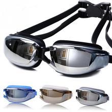Профессиональные очки для плавания для мужчин и женщин, анти-туман, УФ-защита, очки для плавания, водонепроницаемые силиконовые очки для плавания, очки для взрослых