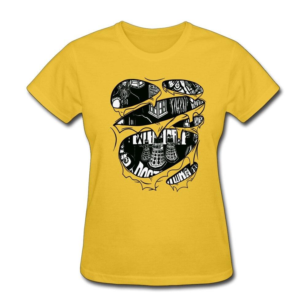 Design t shirt murah - 100 Katun Desain Dokter Yang Robek Wanita T Shirt Murah Sale Keren Wanita T