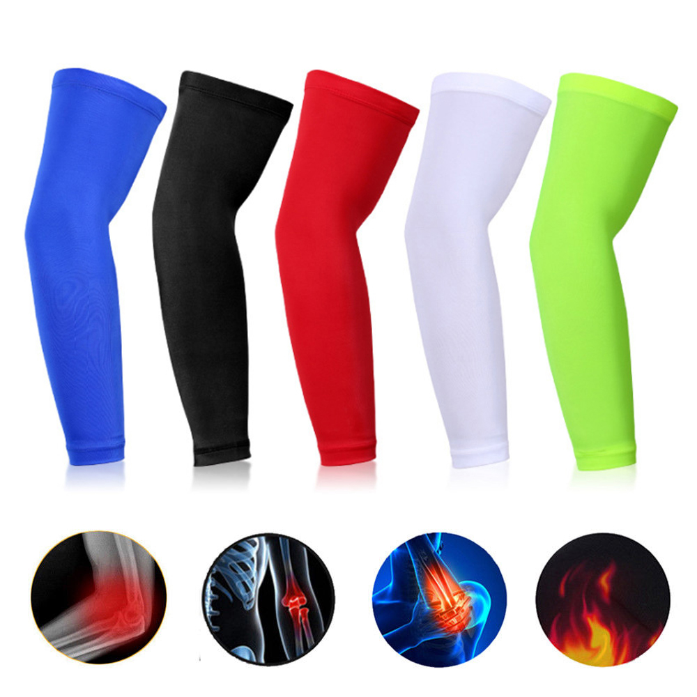 7049792d96 Compression Arm Warmer Sun UV Protection for Mens Sports Running Bike  Cycling Basketball Volleyball Golf Elbow Arm Sleeves Cover