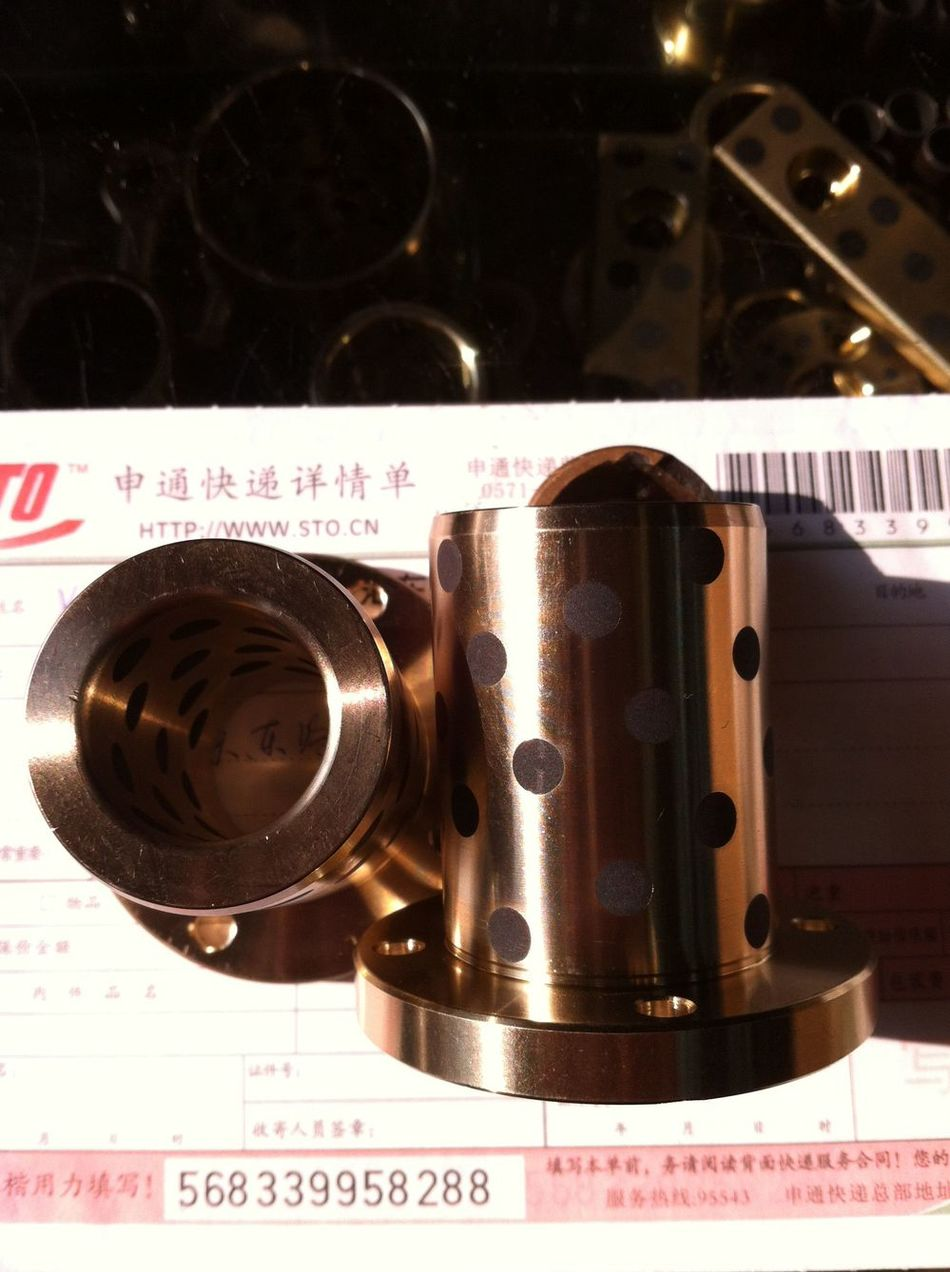 LMF16UU oil bearing self-lubricating graphite inserts / graphite copper sleeve / linear bearing 50 * 10/16 * 28 * 37 jdb 406080 copper sleeve the same size of lm12 linear solid inlay graphite self lubricating bearing