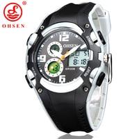New Original OHSEN Brand Digital Sport Watches Wristwatch Children Boy Waterproof Black Rubber Band Fashion Popular