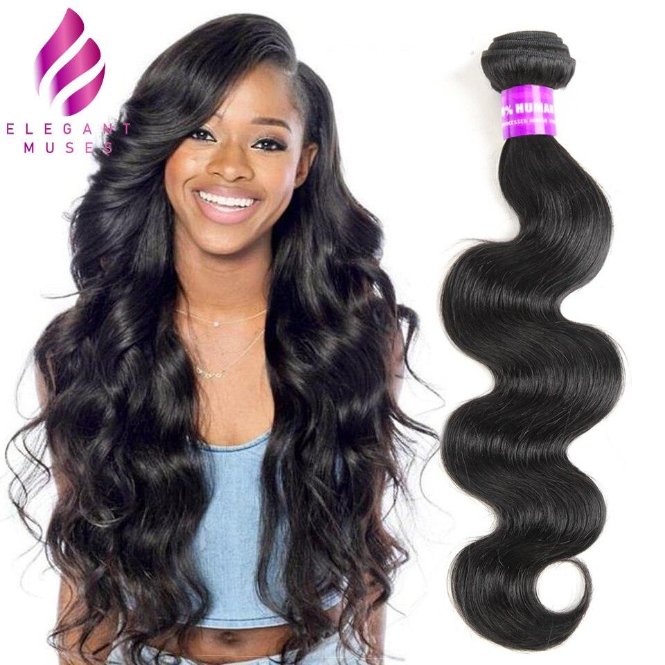 Body Wave Bundles Brazilian Hair Weave Bundles Human Hair 1 3 4 Bundles 100% Natural Color Non Remy Hair Extensions Ms Love Human Hair Weaves