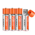 Best Deal 4PCS SORBO 1.5V 1200mAh USB Rechargeable 1 Hour Quick Charging AA Li-po Battery