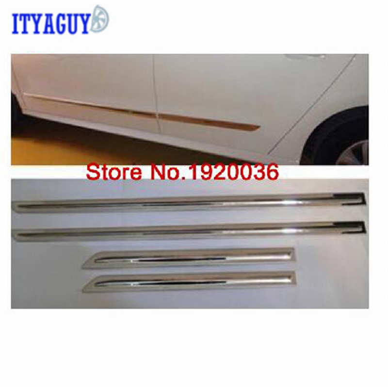 For Citroen Elysee 2014-2015 Body Side Door Trim Molding Exterior cover ABS Chrome car styling abs chrome body side moldings side door decoration for hyundai ix35