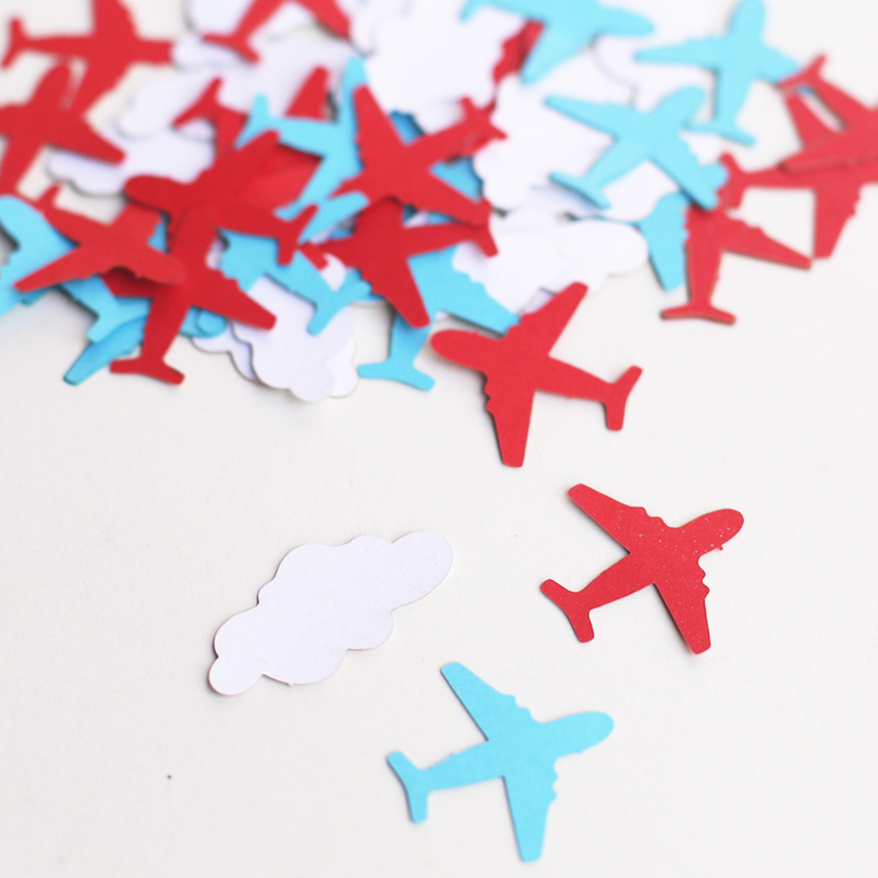 C41Airplane Confetti 100pcs Airplane Baby Shower Confetti Airplane Birthday  Decor Baby Shower Table Decor Your Color Choice In Banners, Streamers U0026  Confetti ...