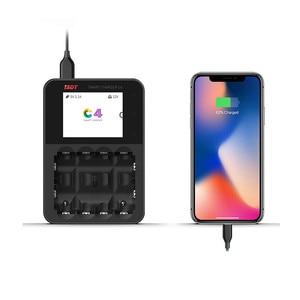 Image 4 - ISDT C4 8A Touch Screen Intelligente Caricabatterie Intelligente Della Batteria W/ USB di Uscita Per 18650 26650 AA AAA Batteria RC modelli