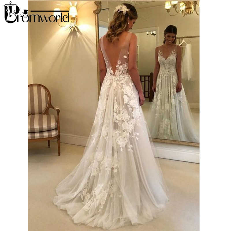 a573e302e8 Detail Feedback Questions about Beautiful Beach Wedding Dresses 2019 ...
