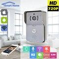 720 p cámara ip wifi timbre con motion control del teléfono ip teléfono de la puerta de intercomunicación video sin hilos de detección de alarma de puerta sin hilos campana