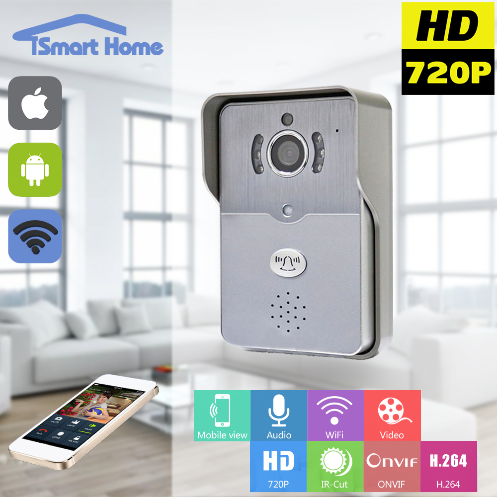 720P IP Wifi Doorbell Camera With Motion Detection Alarm Wireless Video Intercom Phone Control IP Door Phone Wireless Door Bell wifi version video door phone motion detection hd 720p wireless intercom ip doorbell