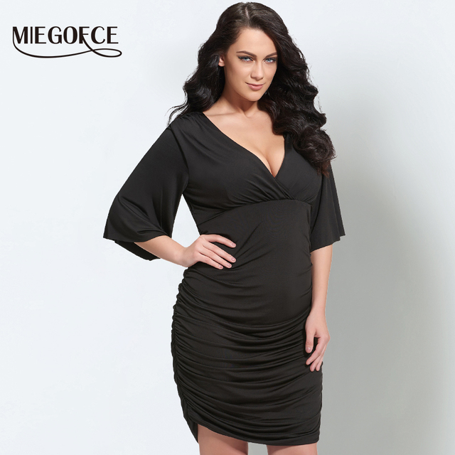 Miegofce 2018 New Collection Plus Size Bodycon Dresses For Women V