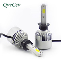 Qvvcev H1 Led Car Headlight Auto Headlamp Fog Lights LED Light Bulbs For Cars High Low