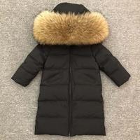 30 Degrees Children Winter Down Jacket Toddler Baby Boys Girls Hooded Zipper Warm Parkas Coats Kids Snow Outerwear Clj123