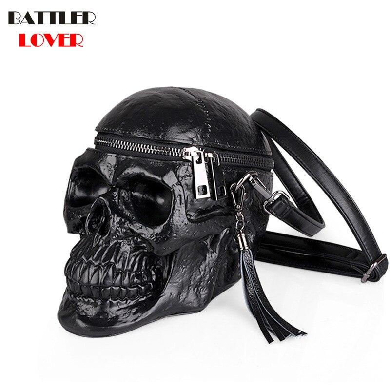 3D sac de crâne femmes sacs à main bandoulière sacs filles sac à bandoulière Femme Mujer sac à main pour femmes 2018