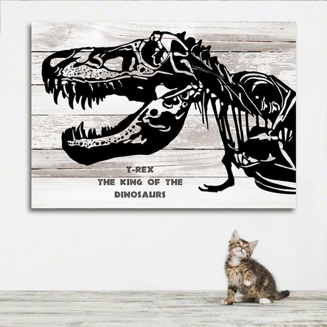 Aliexpress.com : Buy T rex 4 Dinosaur canvas art painting dinosaur ...