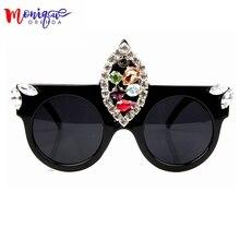 Monique 2017 Солнцезащитные очки для женщин Для женщин красочные кристалл Queen Стиль Роскошные Солнцезащитные очки для женщин для дам партии Защита от солнца очки UV400