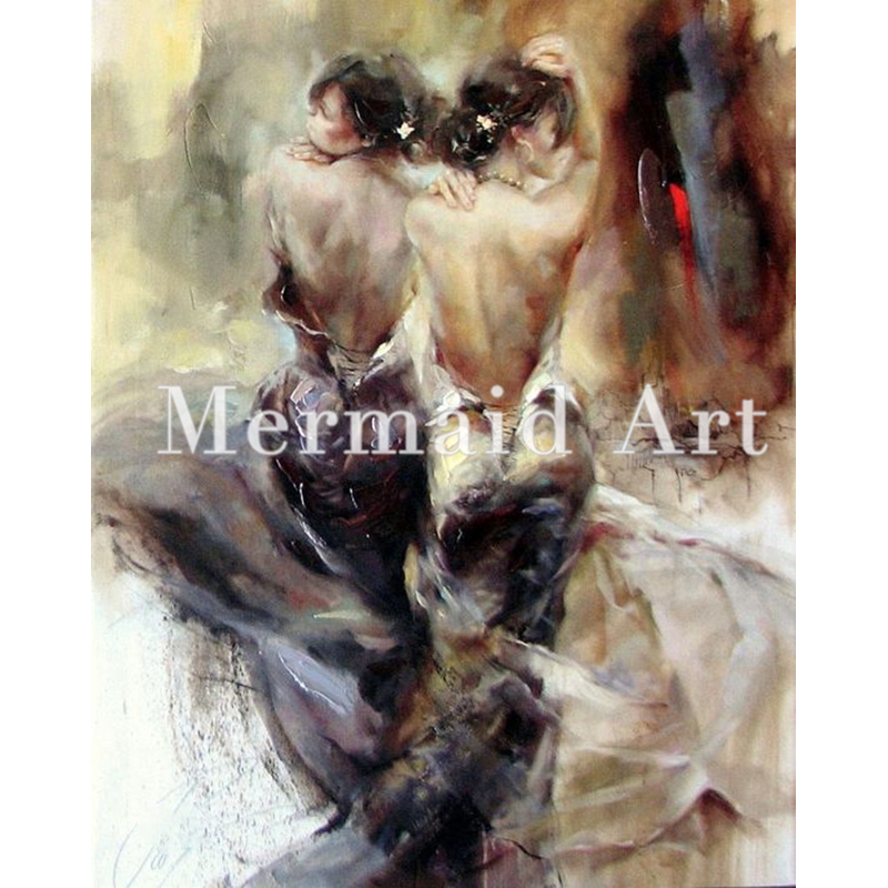 Acrylic Paint Hand Painted Ballet Tango Dancer Bouquet Oil Painting Make Your Own