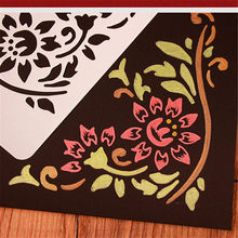 DIY Photo Album Accessory Laciness Ruler Hollow Out Drawing Template DIY Photo Album Decoration Drawing Tool 24Styles(China)