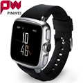 Pinwei 3g wcdma android telefone do relógio smart watch com 1g ram 8g/4g rom smartwatch com base no android 5.1 para iphone android telefone