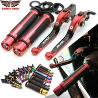 For kawasaki ZX10R 2006 2015 2007 2008 2009 2010 2011 Motorcycle Adjustable Folding Brake Clutch Levers Handlebar Hand Grips
