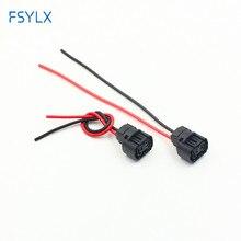 FSYLX 2 шт. h16 5202 Противотуманные фары держатель разъем автомобиля H16/5202/2504/PSX24W лампы гнездовой разъем адаптеры жгут проводов разъем