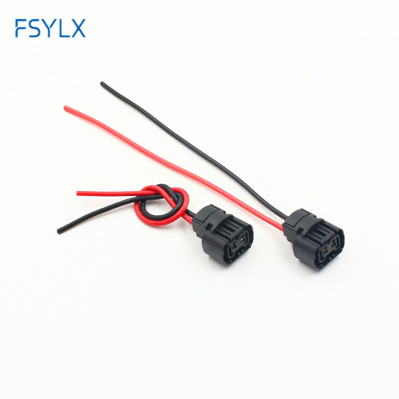 FSYLX 2pcs h16 5202 Fog headLight Holder Plug Car H16/5202/2504/PSX24W Bulbs female Connector adapters Wiring Harness socket
