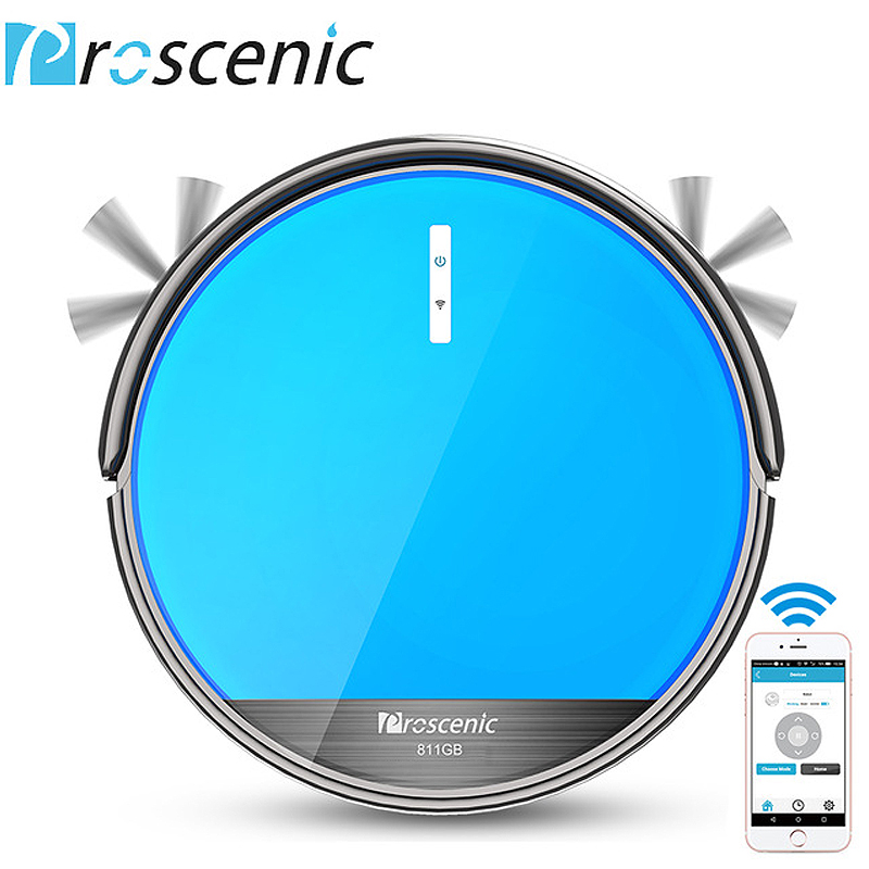 Proscenic 811GB Robotic Vacuum Cleaner Low Noise Slim Design Electric Control Water Tank Robot Aspirador with Boundary Magnetic liectroux x5s robotic vacuum cleaner wifi app control gyroscope navigation switchable water tank