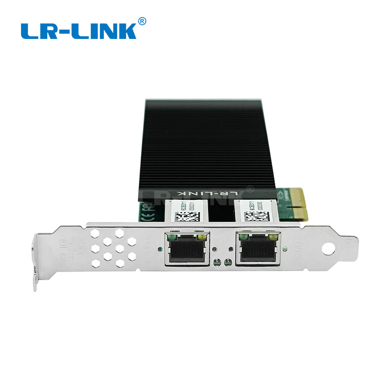 LR-LINK 2002PT-POE Industry Machine Vision Gigabit Ethernet Adapter Dual Port RJ45 Network Card Camera Video Grabber Intel I350 winyao wyi350t4 pci e x4 rj45 qual port server gigabit ethernet 10 100 1000mbps network interface card for i350 t4 4 port nic