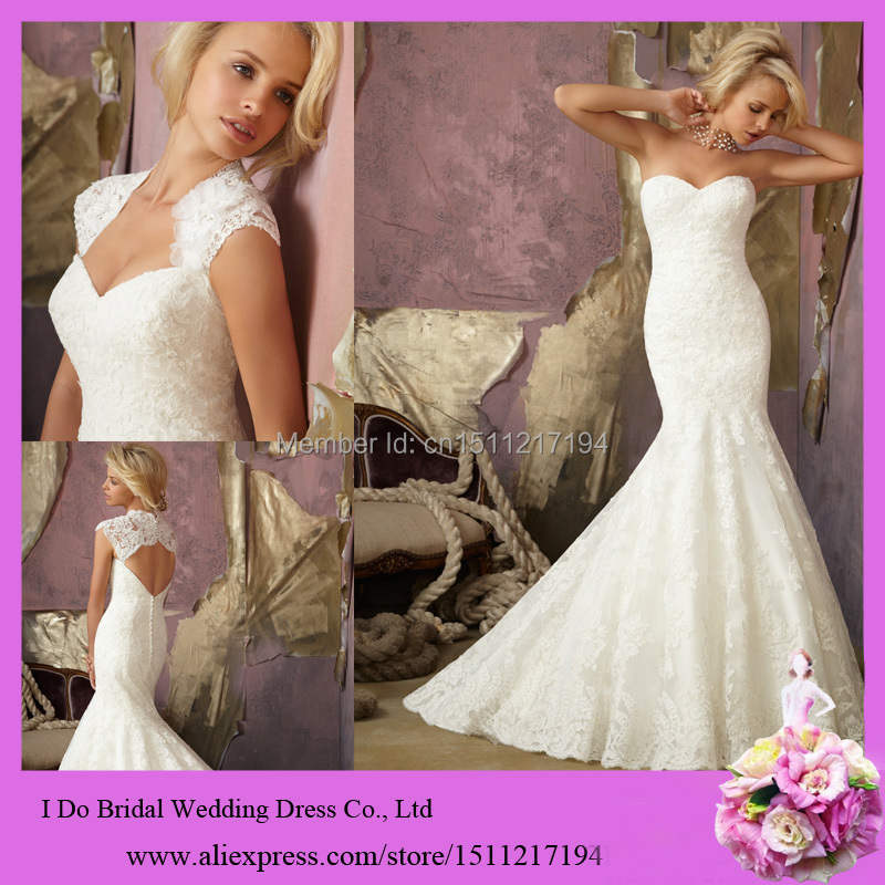 Fancy Mermaid Wedding Bridal Gown Hot Fit And Flare 2 In 1