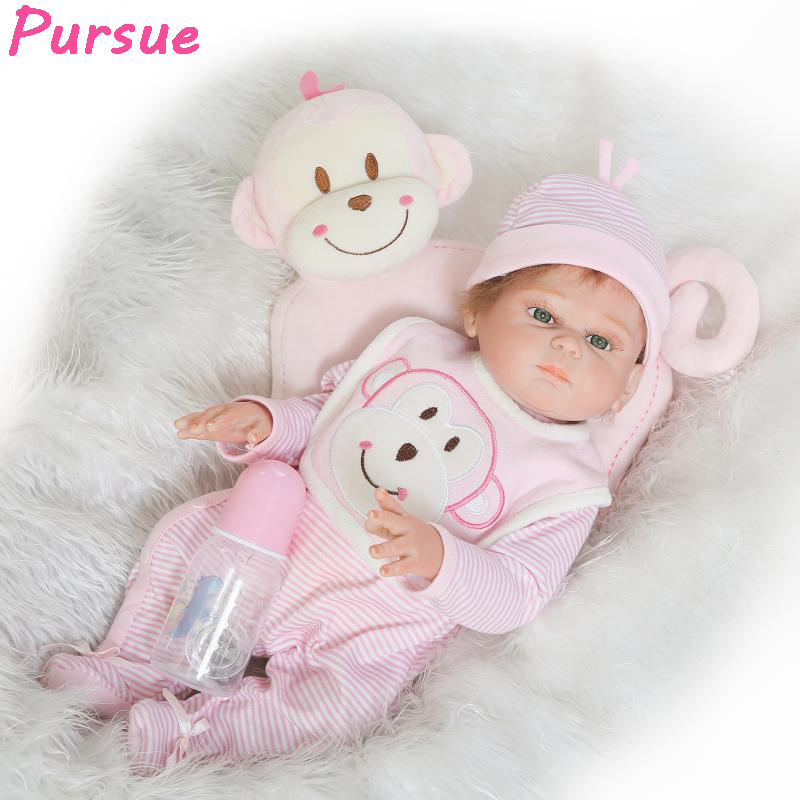 Pursue 52 cm Soft Vinyl Reborn Babies Lifelike Reborn Toddler Baby Dolls Full Body Silicone Reborn Baby Dolls Toys for Children pursue full body silicone reborn dolls baby reborn with silicone body dolls reborn whole silicone toys for girls reborn babies