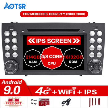 Android 9 CAR DVD player GPS navigation For MERCEDES-BENZ SLK Class R171 SLK200/SLK230/SLK280 Multimedia autoradio tape recorder image