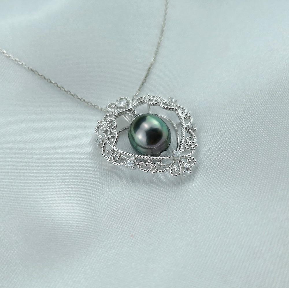 Anhänger Daimi 9-11mm Schwarz Tahitian Perle Anhänger 925 Silber Kette Halskette Die Apple Unserer Auge Feine Schmuck Weihnachten Geschenke Schmuck & Zubehör