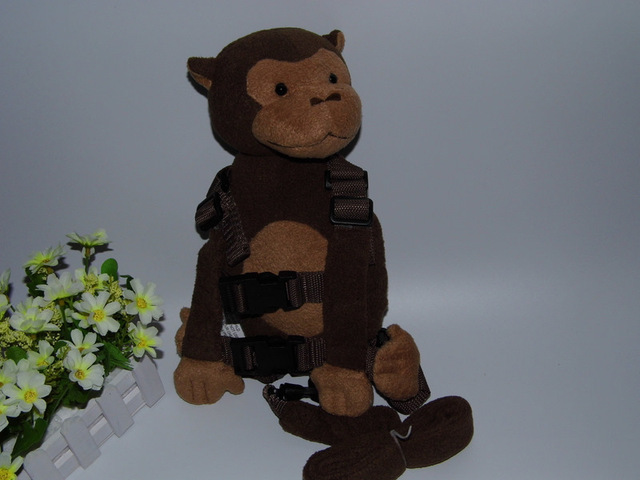 2 in 1 Harness Buddy Brown Monkey Babi Safety Animal Backpacks Bebe Walking Reins Toddler Leashes GB-015
