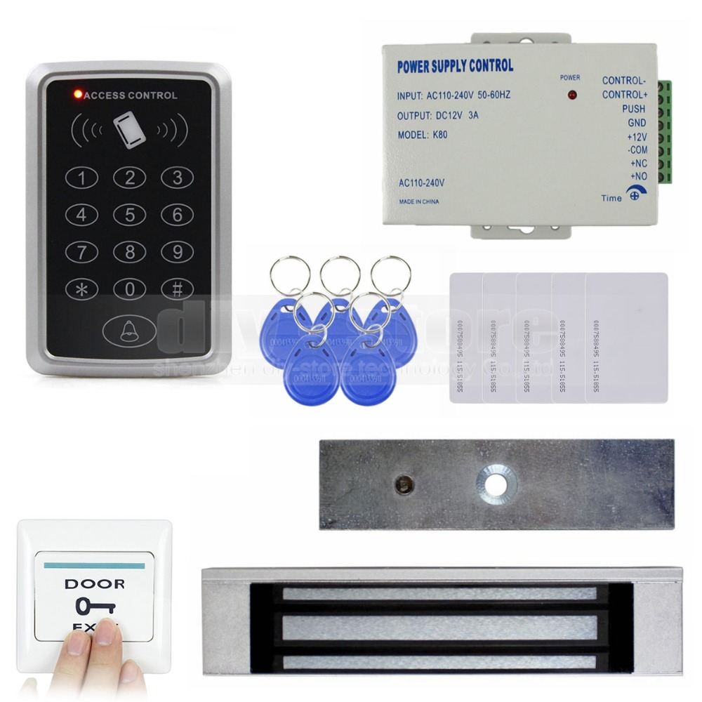 ФОТО DIYSECUR Full Complete Rfid Card Keypad Door Access Control System Kit + Magnetic Lock for Home Improvement