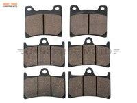 6 Pcs Semi Metallic Motorcycle Front Rear Brake Pads Brake Disks Case For YAMAHA BT1100 BT