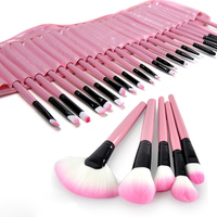 New Arrival 32Pcs Makeup Pink Brushes Professional Cosmetic Make Up Foundation Brush Set 2017