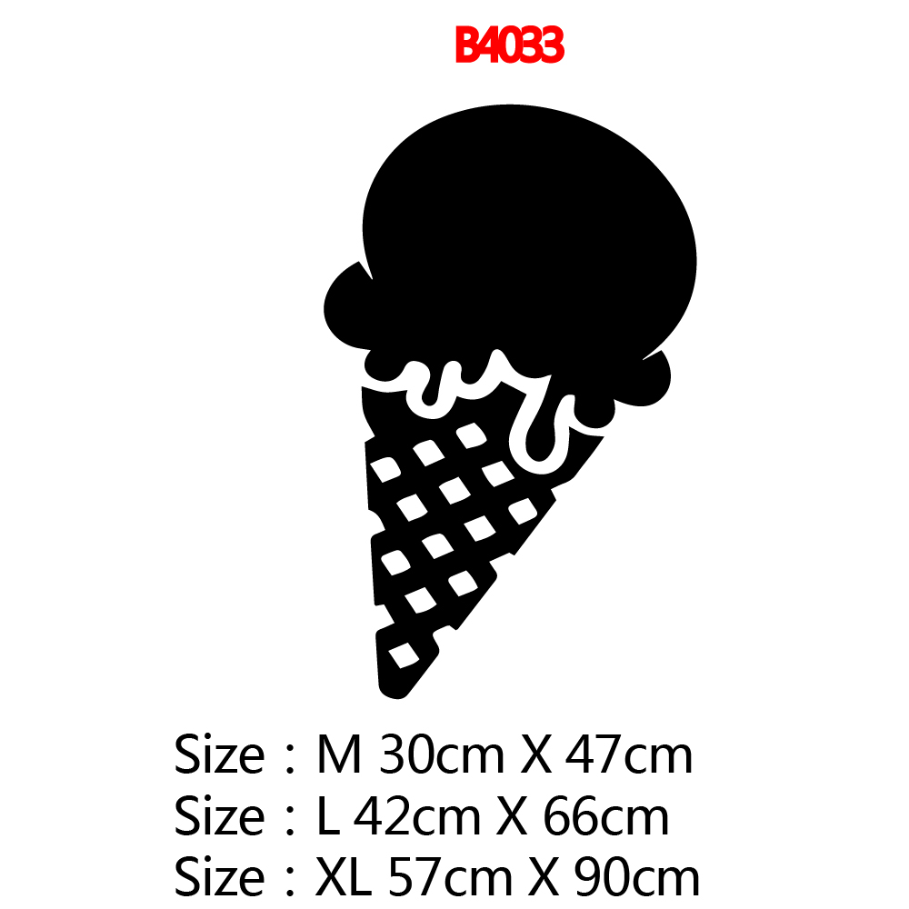 Hot Sale ice cream Home Decor Vinyl Wall Stickers For Kitchen Room Pvc Wall Decals Commercial Art Decals vinilo pared in Wall Stickers from Home Garden