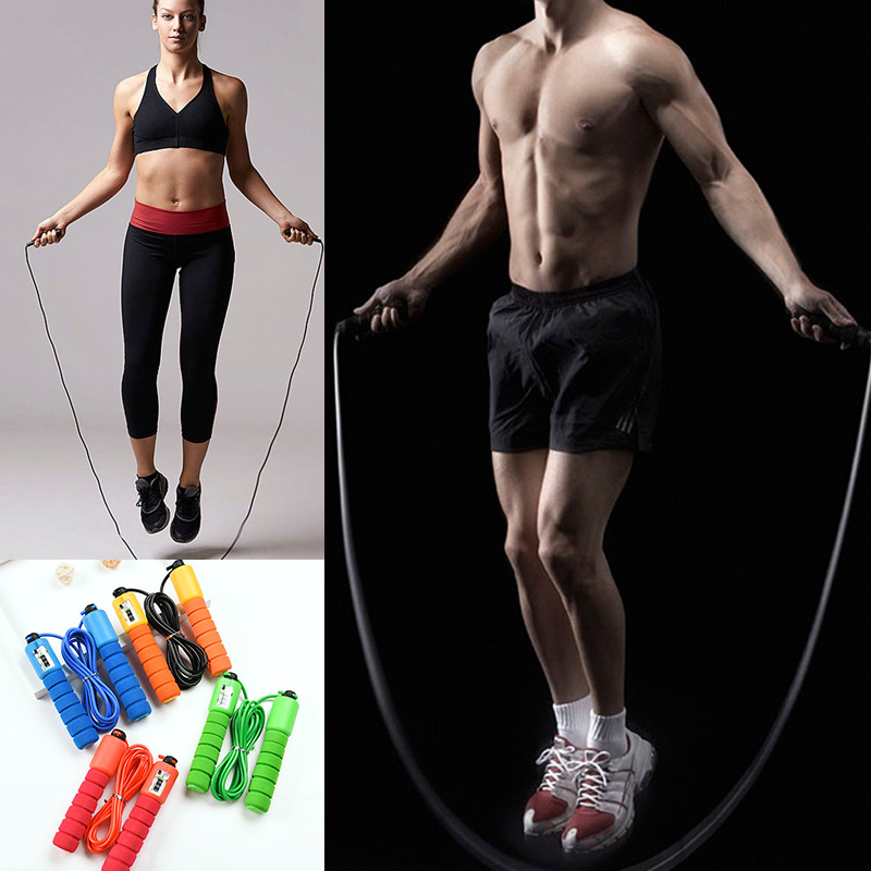 Jump Ropes with Counter, Adjustable,  Counting Jump Skip Rope Skipping Wire 2