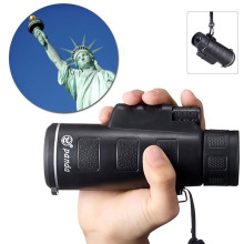 Hot sale Day&Night Vision 40X60  Portable Focus Zoom Travelling HD Optical Lens Monocular Hunting Camping Hiking Telescope