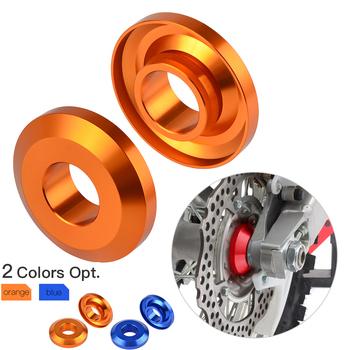 2 sztuk tylne koła dystansowe piasty dla KTM 125 150 200 250 300 350 400 450 SX SXF SX-F XC XCF XC-F dla Husqvarna TC FC TX FX tanie i dobre opinie NICECNC 1inch 10200-RWS001 0 14kg Felgi Aluminum none