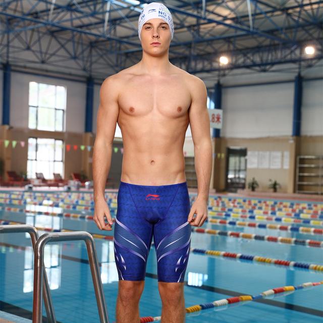 Swimming Jammer Men Swimwear Shorts Quick Dry Men's